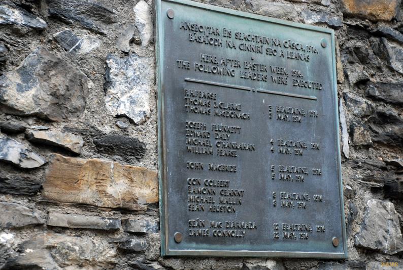 Los líderes ejecutados tras el levantamiento de 1916. Kilmainham Gaol. Dublín