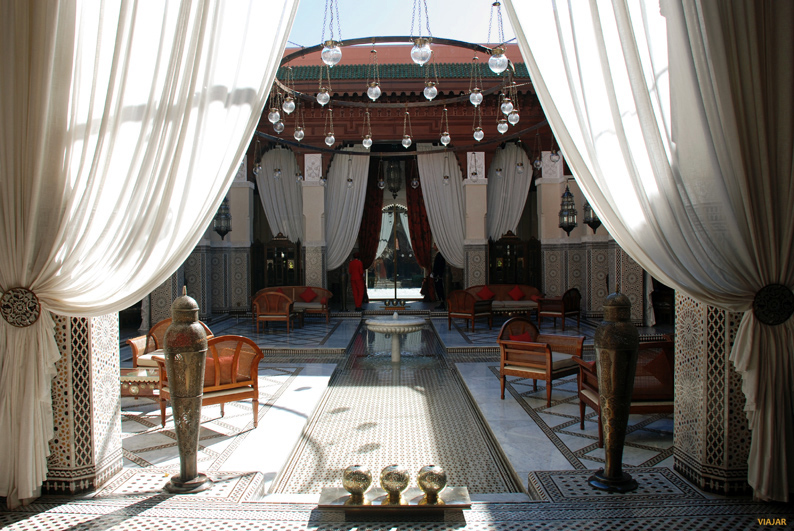 Patio central. Hotel Royal Mansour. Marrakech