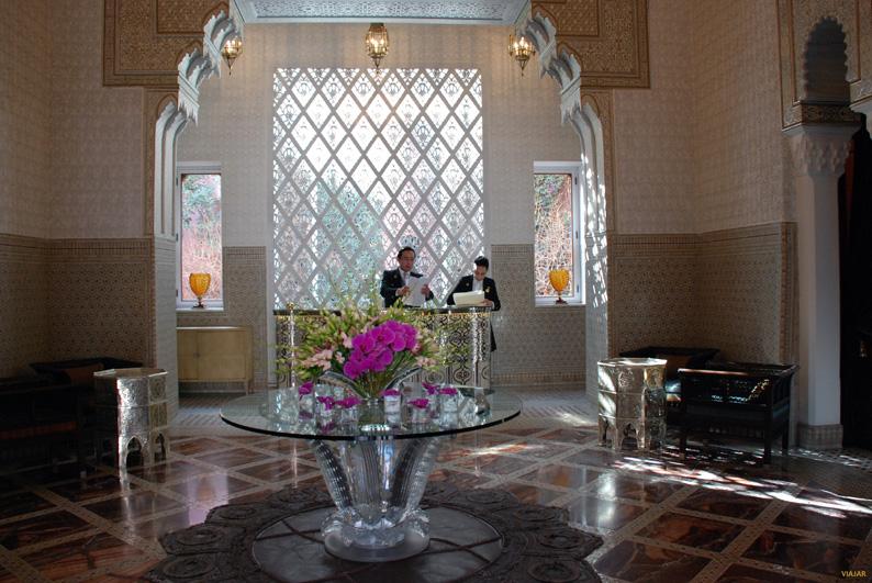 Recepción. Hotel Royal Mansour. Marrakech