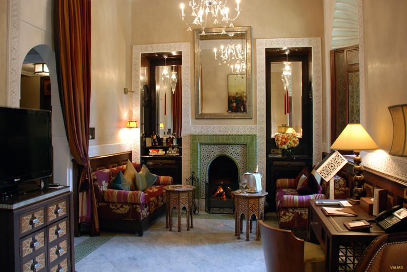 Sala de estar del riad. Hotel Royal Mansour. Marrakech