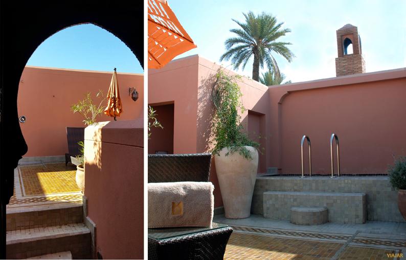 Terraza del riad. Hotel Royal Mansour. Marrakech