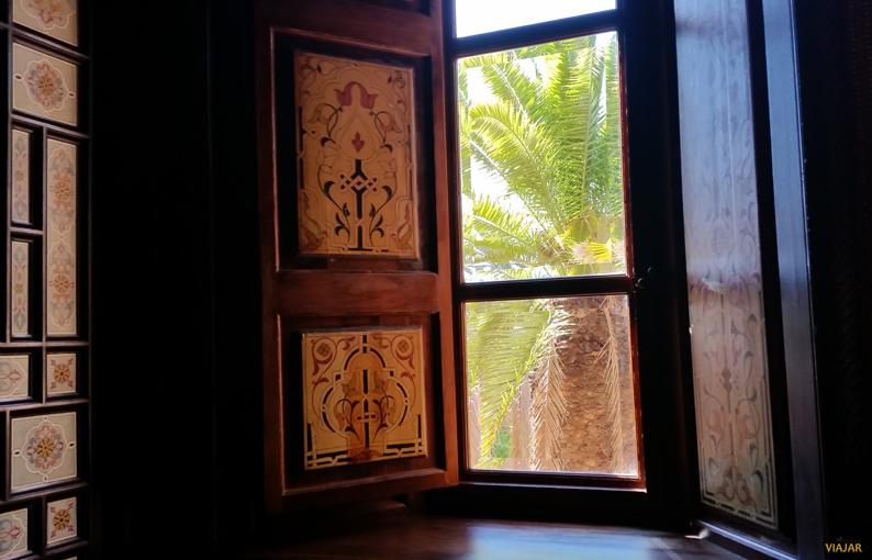 Ventana del dormitorio. Hotel Royal Mansour. Marrakech