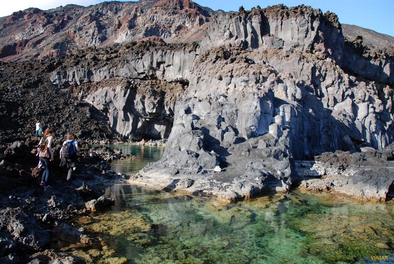 Charcas naturales. Playa de Echentive. La Palma