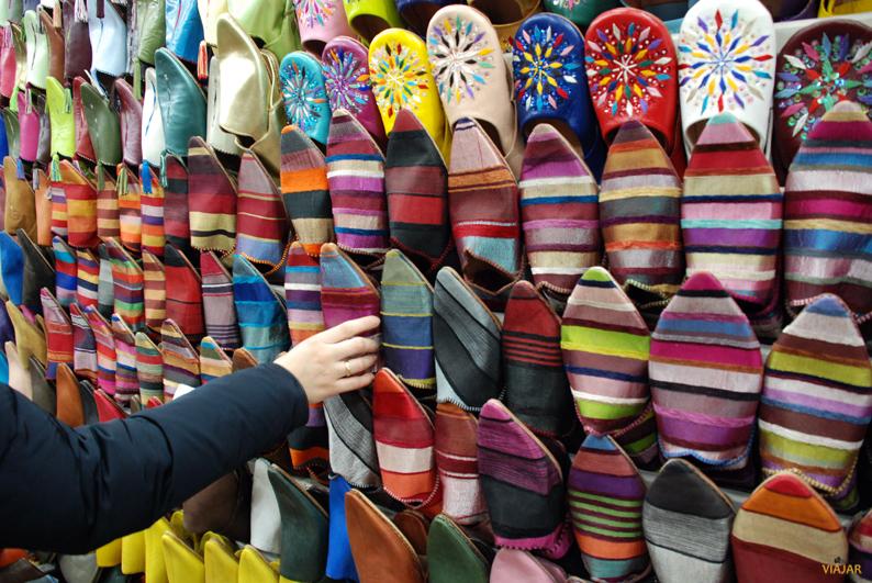 De compras por los zocos de Marrakech