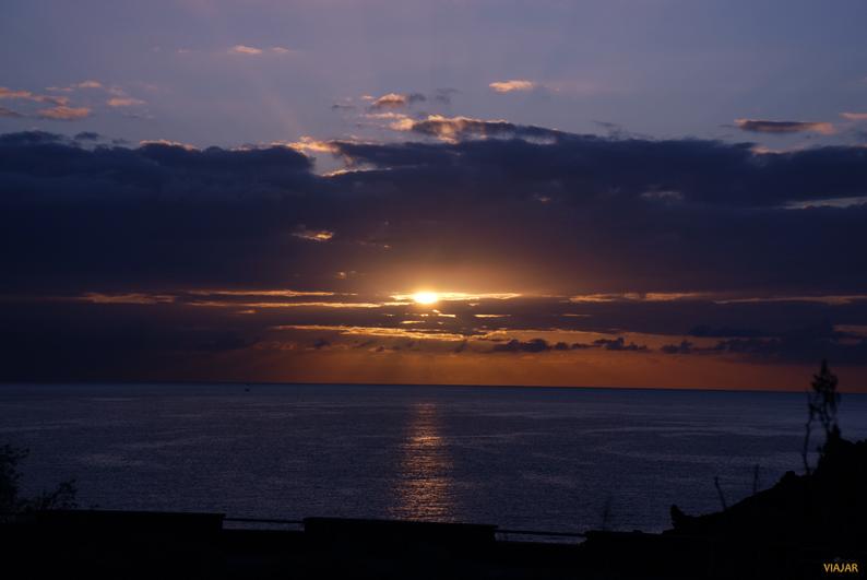 El sol, el Atlántico y La Palma
