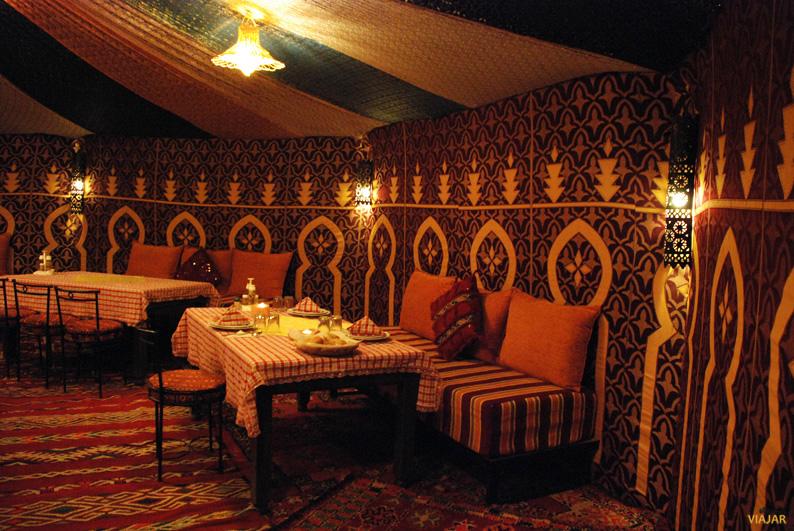 Jaima comedor. Desierto Erg Chebbi. Marruecos