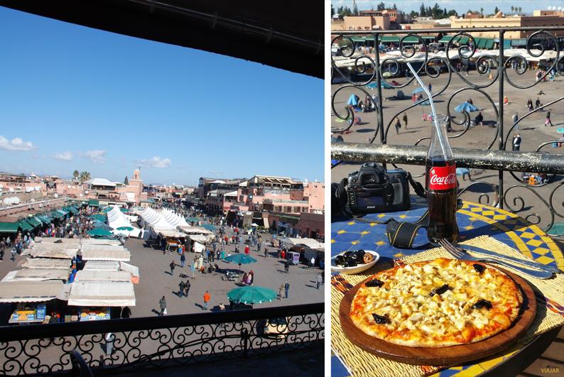 Una pizza en el Café Glacier. Marrakech