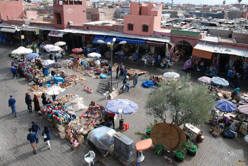 Vistas desde el Café des Épices. Marrakeck