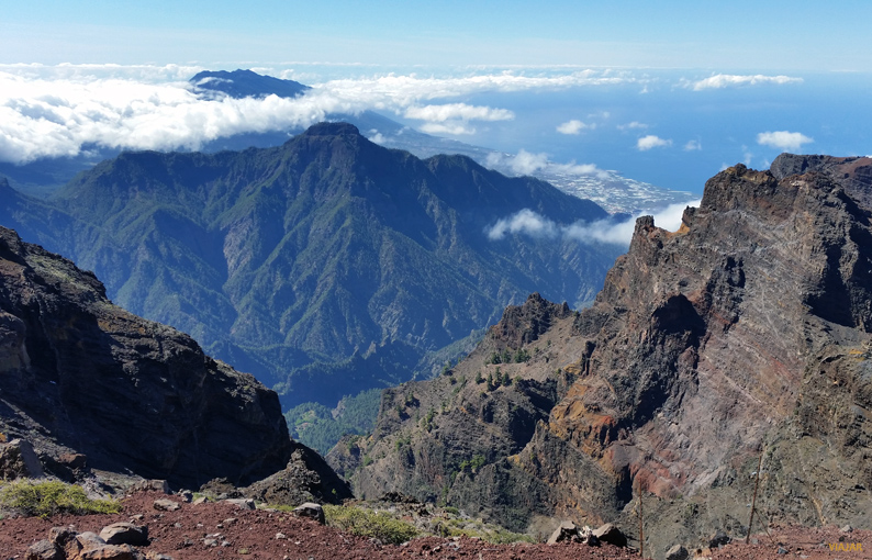 Vistas desde el Roque de los Muchachos. La Palma