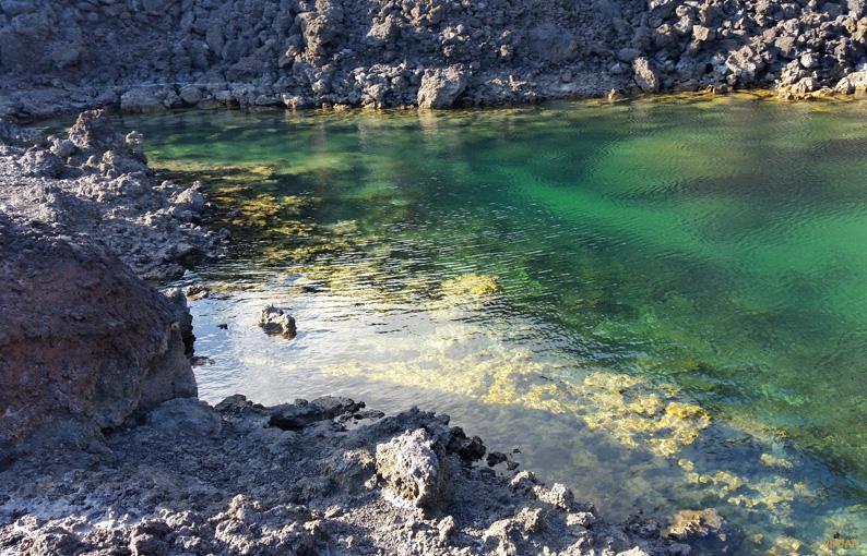Charca de la Playa de Echentive en Fuencaliente. La Palma