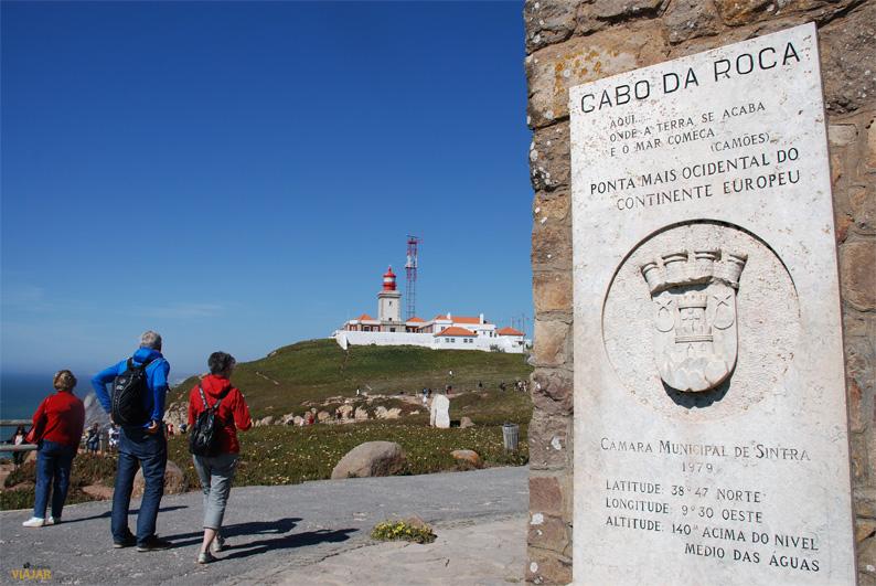 Monolito que señaliza el Cabo da Roca