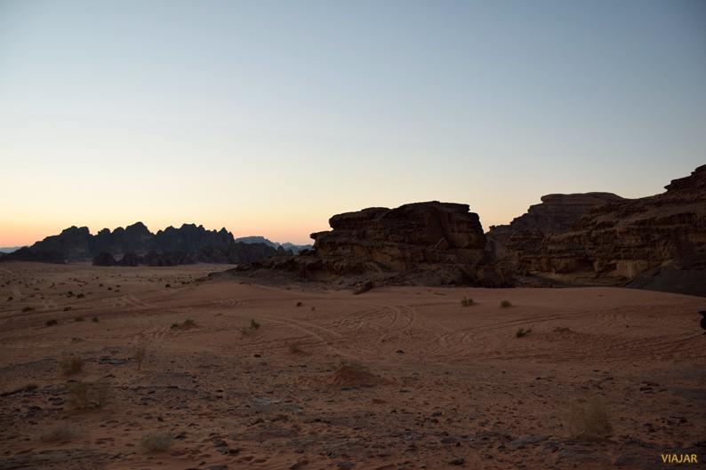 Atardecer en Wadi Rum. Jordania