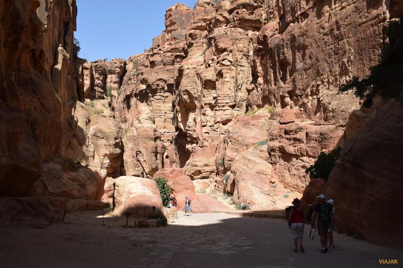 El cañón del Siq. Petra. Jordania