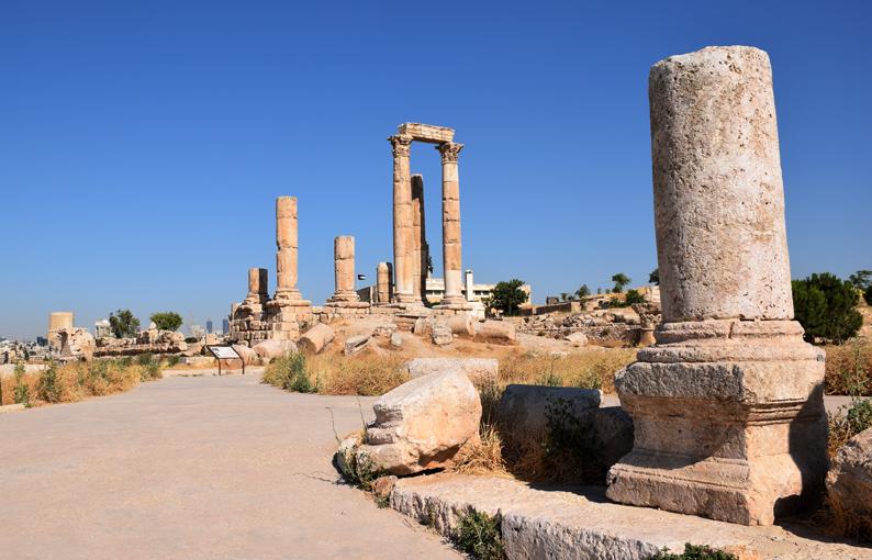 La Ciudadela de Amán. Jordania