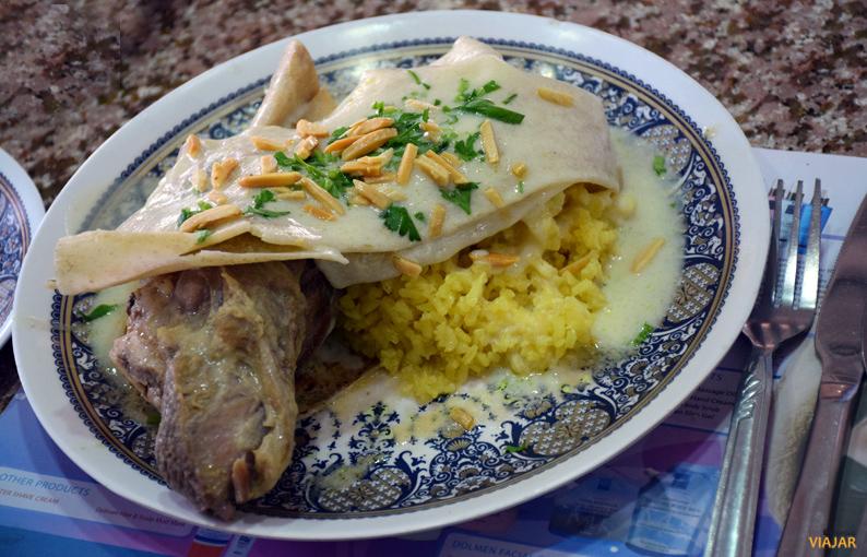 Mansaf. el plato típico de Jordania