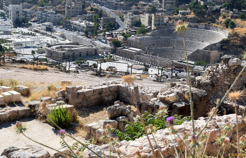 Vista del teatro romano desde la Ciudadela. Amán