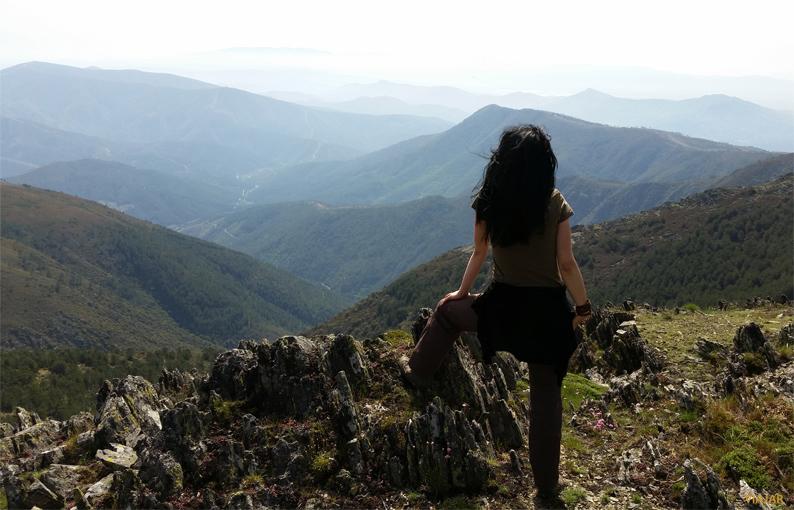 Vistas de Las Hurdes desde el pico de La Boya