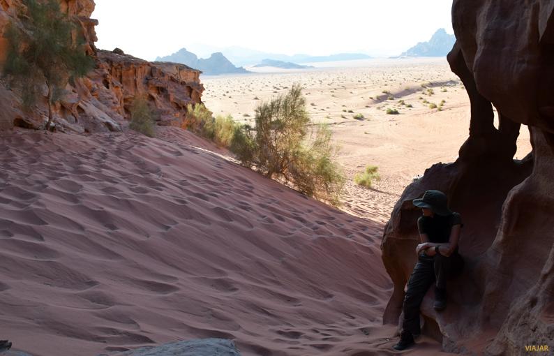 En Wadi Rum cada recodo guarda una sorpresa. Jordania