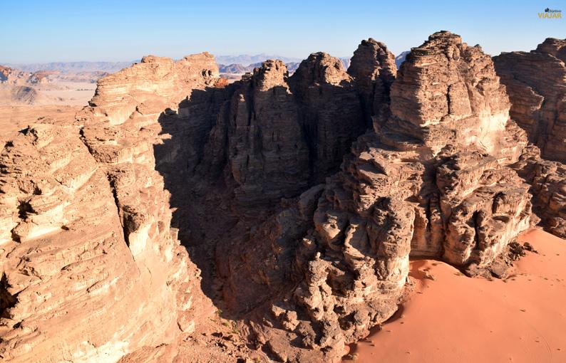 Las imponentes rocas de Wadi Rum. Jordania