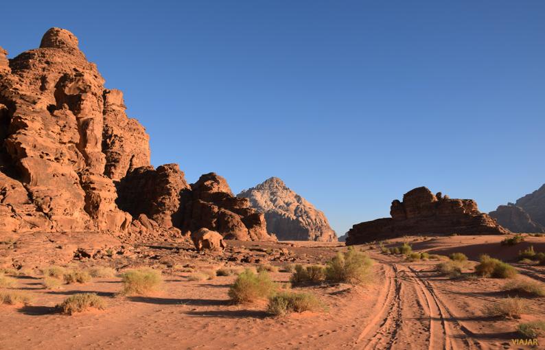 Los paisajes de Wadi Rum. Jordania
