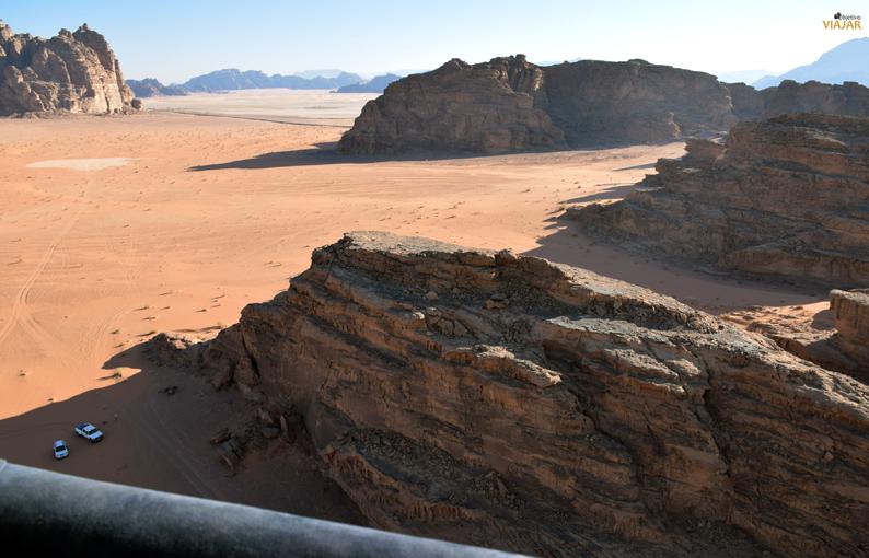 Wadi Rum desde las alturas. Jordania