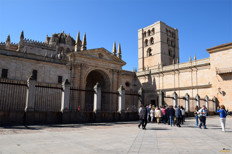 Fachada norte de la Catedral de Zamora