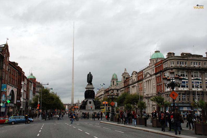O'Connell Street y Spire. Dublín