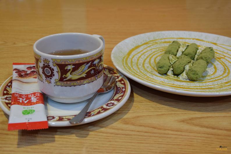 Trufas de té verde. Restaurante Maru