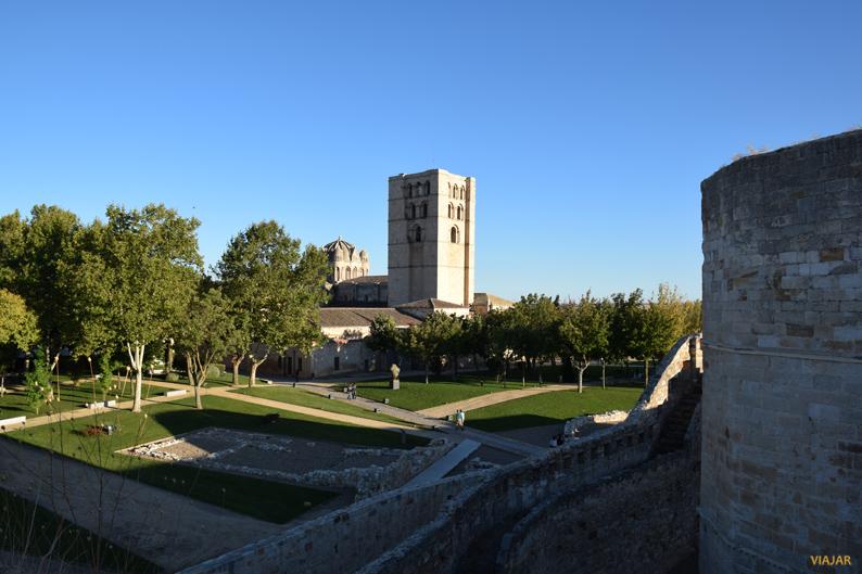 Vistas de la Catedral desde el Castillo de Zamora