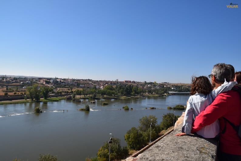 Vistas del Duero desde el mirador del Troncoso. Zamora