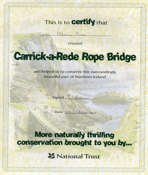 Certificado National Trust