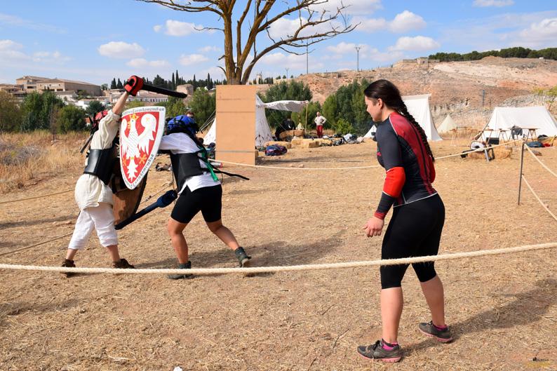 Entrenamientos en el campamento. I Torneo Internacional de Combate