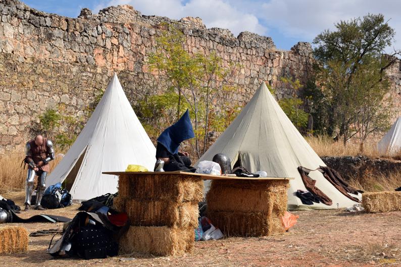 La vida en el campamento. I Torneo Internacional de Combate Medieval