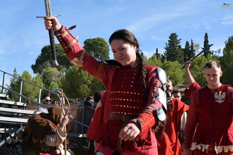 Luchadora femenina. I Torneo Internacional de Combate Medieval