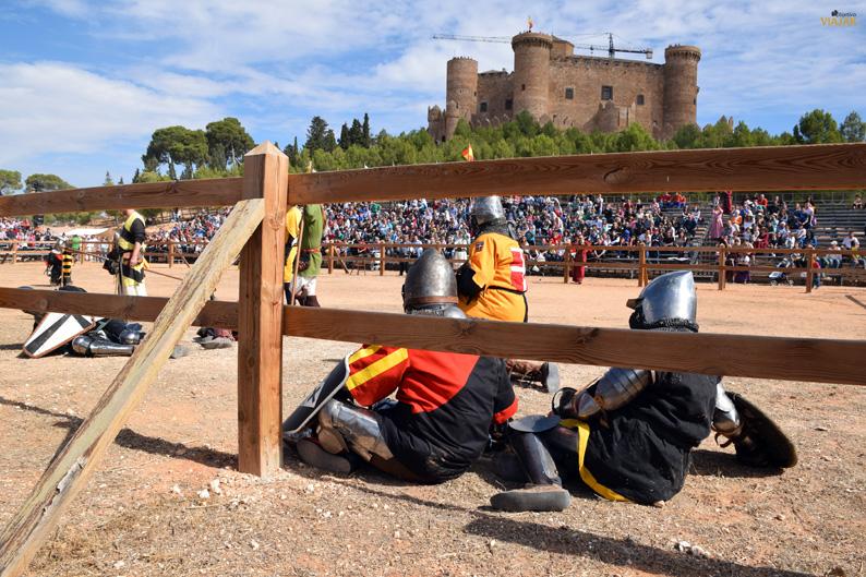 Luchadores derribados. I Torneo Internacional de Combate Medieval
