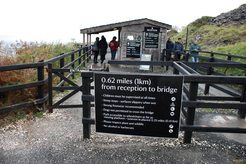Recepción de visitantes. Puente de Carrick-a-Rede