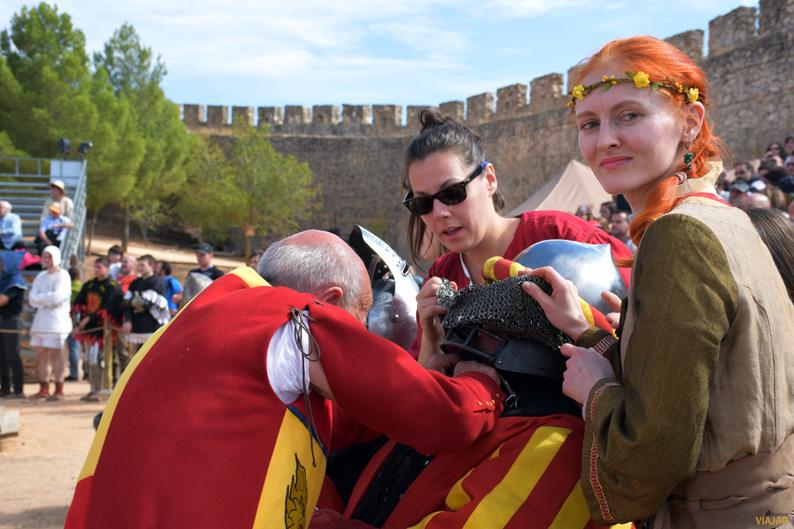 Tras el combate. I Torneo Internacional de Combate Medieval