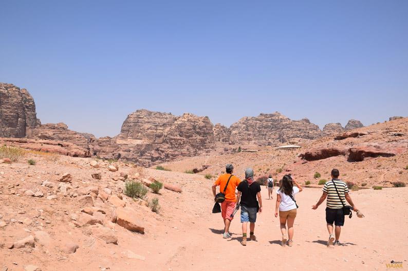 Caminando por Petra. Jordania