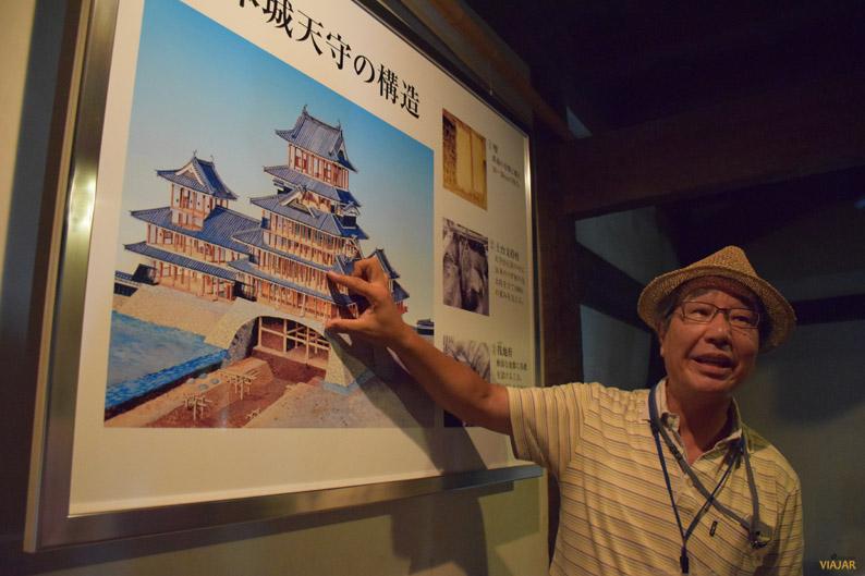 Guía del castillo de Matsumoto, Japón