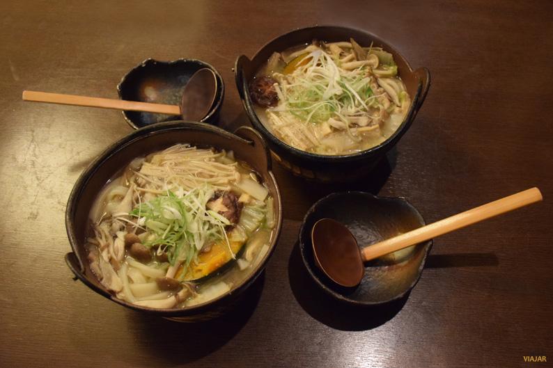 Hoto, una especialidad de Kawaguchiko. Japón