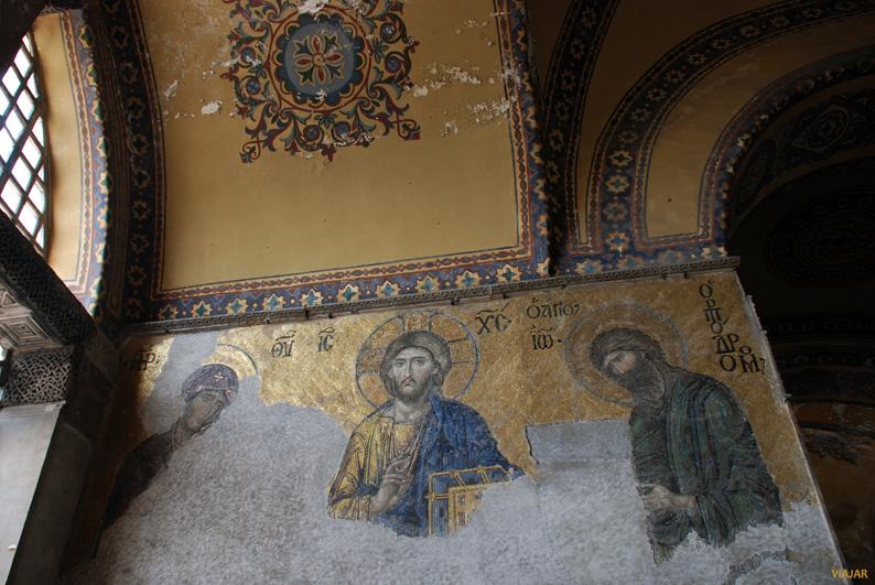Mosaico de la Deesis. Siglo XIII. Santa Sofía. Estambul