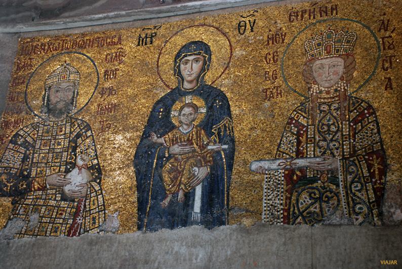 Mosaico del emperador Komnenos. Santa Sofía. Estambul
