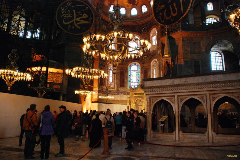 Nave central de Santa Sofía, Estambul