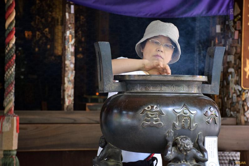 Ofrenda en el templo. Japón