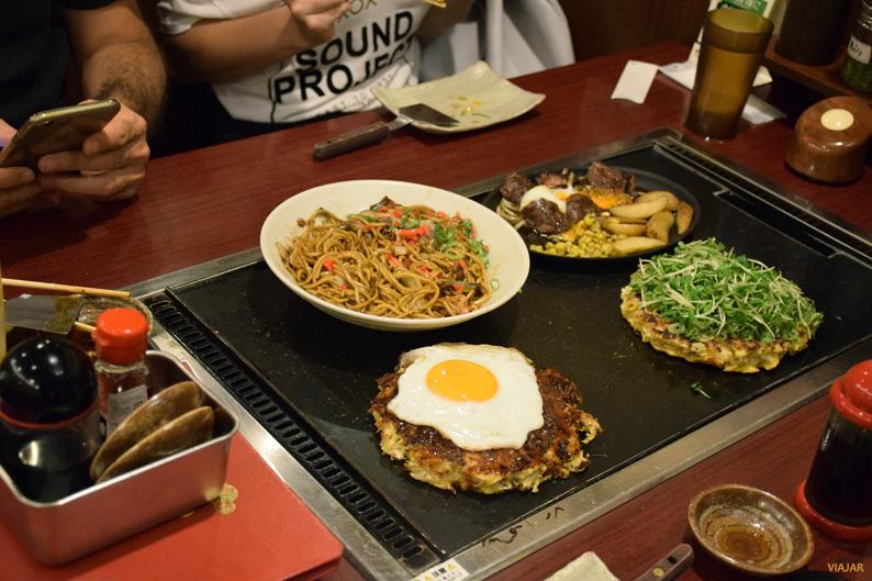 Okonomiyaki, un plato típico de Japón
