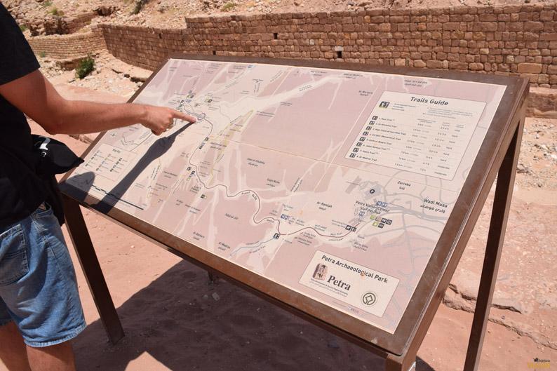 Plano de situación. Petra. Jordania