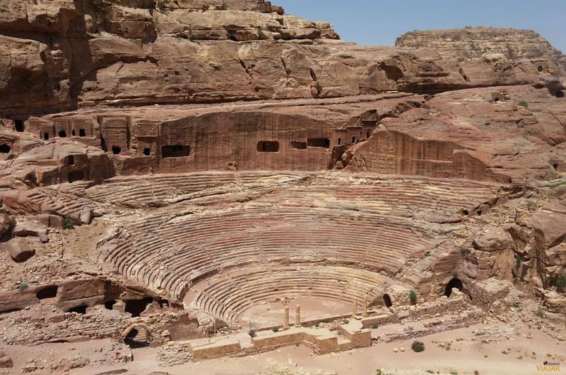 Teatro construido por los nabateos. Petra. Jordania