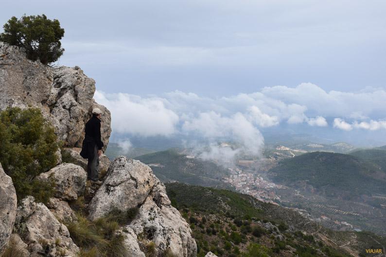 Yeste desde el Monte Ardal. Sierra del Segura