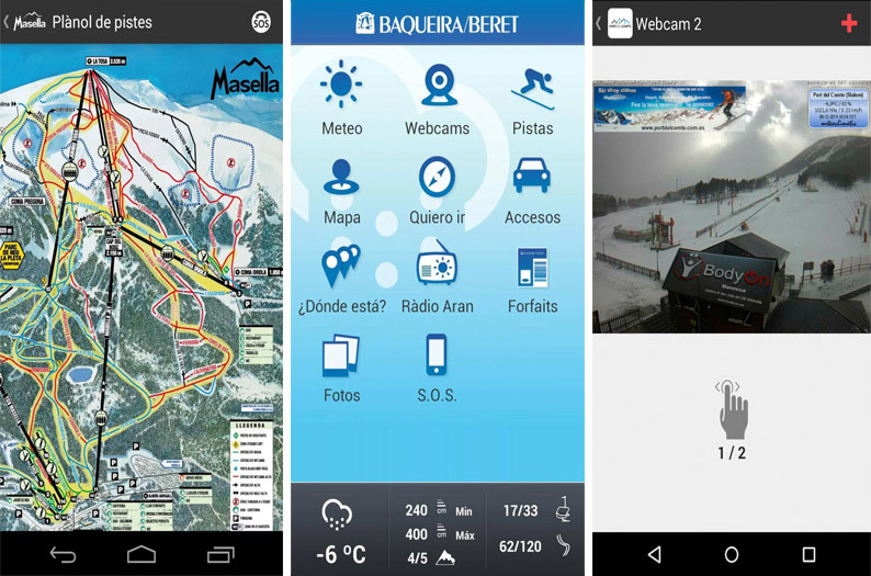 Aplicaciones de las estaciones de esquí de Cataluña
