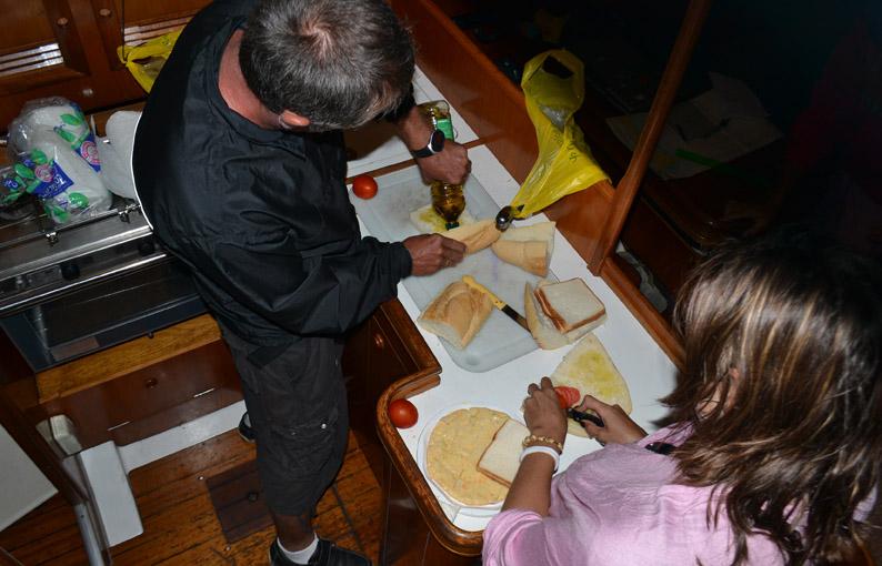 Cocinando a bordo